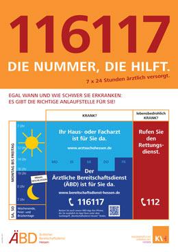 Notfallnummer - Plakat - 116117